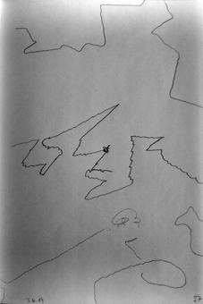 Linien mit abrupten Richtungswechseln