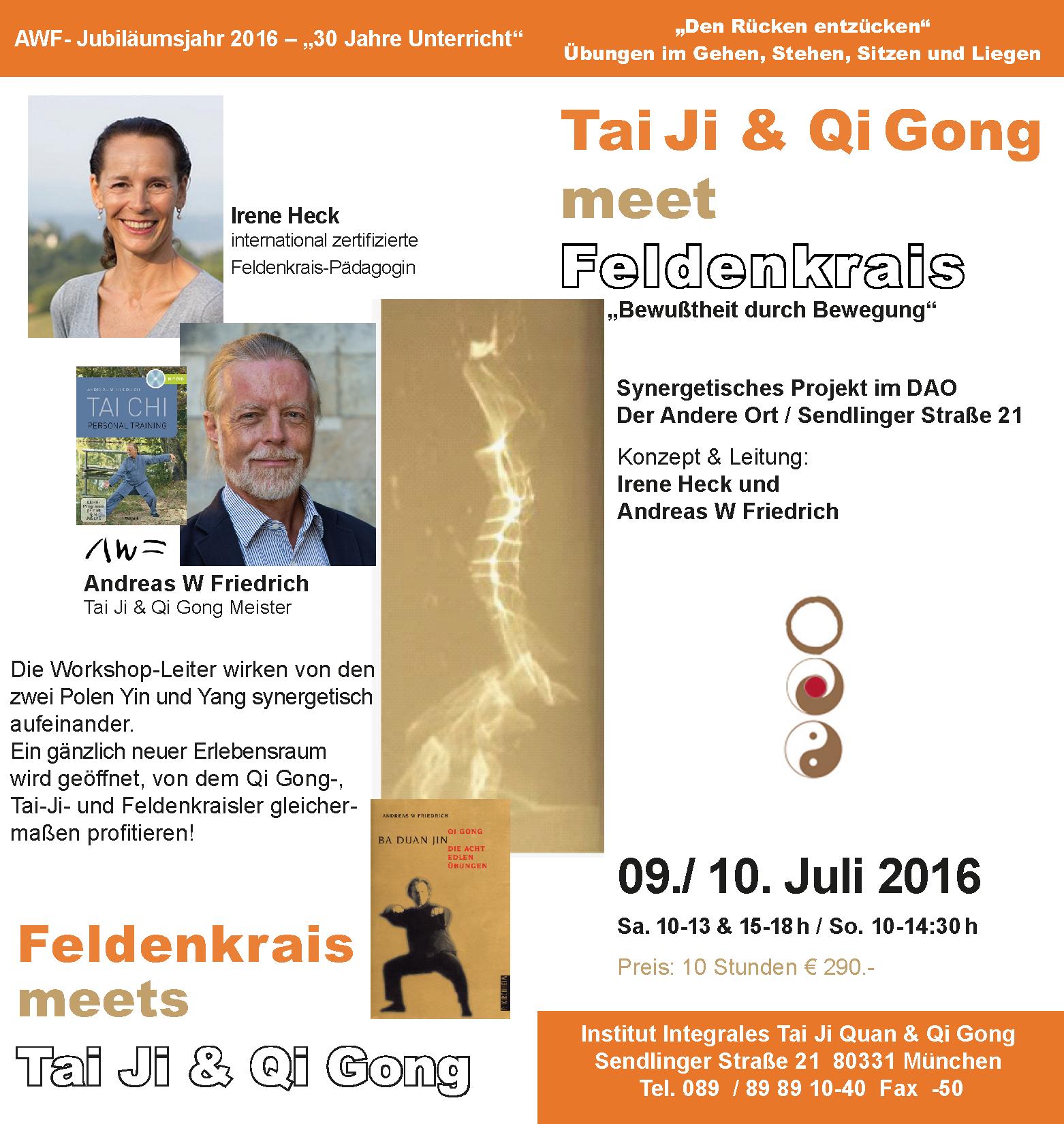 Synergetisches Projekt Tai Ji & Qi Gong meet Feldenkrais